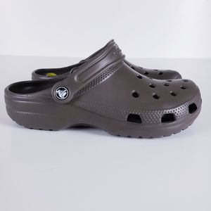 Crocs Brown Classic Slip On Mules Clogs